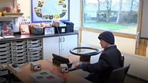 Pupils practise travelling by bus