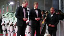 Princes turn out for Star Wars premiere