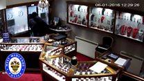CCTV of jewellery shop raiders
