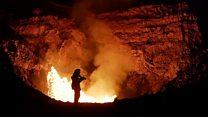 Что чувствует и слышит человек в жерле активного вулкана