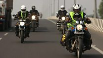 On the election trail with Gujarat's women bikers