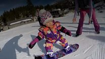 The one-year-old who snowboards in US
