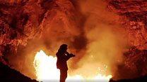 ایک دہکتے آتش فشاں کے اندر کا منظر کیسا ہوتا ہے؟