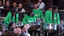 Ebony Steel Band play at Grenfell Memorial