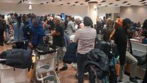 Les passagers à l'aéroport Blaise Diagne de Diass