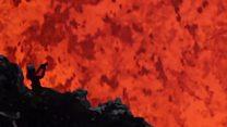 A fotógrafa que se arrisca para trabalhar dentro de vulcões ativos
