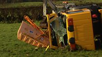 Gritter crashed into field