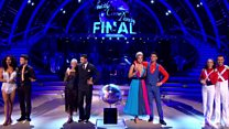 Who waltzed off with the Strictly glitterball?