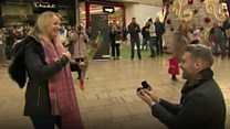 Man pops question at shopping centre