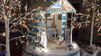 Edible beach hut crafted from sugar