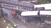 Aerial video shows scale of US derailment
