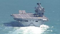 HMS Queen Elizabeth takes to the sea