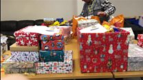 The gift-filled boxes for foodbank users