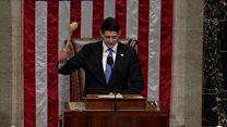Ryan's exuberant gavelling on tax cuts