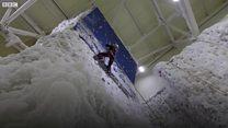 Ice climber aims for the sky