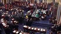 'Kill the bill' protesters disturb Senate