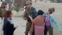 """Fələstnli qız İsrail əsgərinin """"şillələnməsi videosundan"""" sonra həbs olunub"""