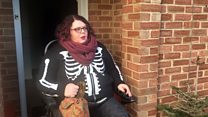 Disabled woman in hospital visits mission