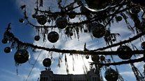 ローマの巨大クリスマスツリーに不評相次ぐ