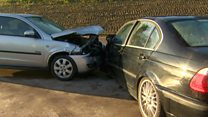 Car crash staged in drink drive campaign