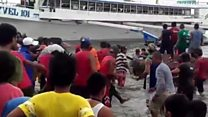 Passengers rescued after ferry capsizes