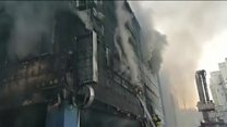 Fire sweeps through S Korean gym