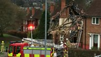 Man injured in an explosion at a house in Leeds