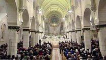 Pilgrims celebrate Christmas in Bethlehem