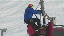 إجلاء 150 شخصا بعد عطل في مصعد تزلج كهربائي في الالب الفرنسية