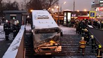 Several dead in Moscow subway bus crash