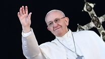 Pope addresses world crises in speech