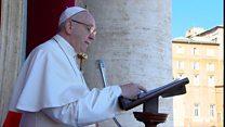 罗马教皇方济各呼吁以对话解决中东问题