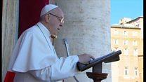 ローマ法王、紛争地の「子供たちにイエスを見る」