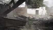 کراچی میں چائنہ کٹنگ کے خلاف کارروائی