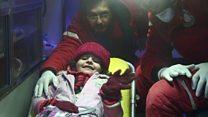 Critically ill Syrian children evacuated