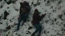Pair plucked from icy Snowdon ridge