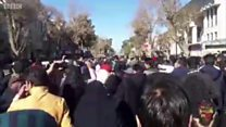 تصاویر ارسالی مخاطبان از تجمعهای اعتراضی در شهرهای #مشهد، ینشابور و شاهرود در تلگرام