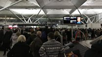Hundreds of people stranded at Stansted
