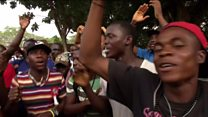 Weah supporters celebrate poll result