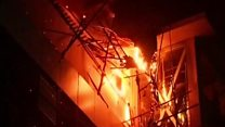 Rooftop fire engulfs Mumbai building