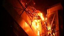 ムンバイ火事で15人死亡 屋上レストランでパーティー中