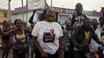 Explosion de joie à Monrovia