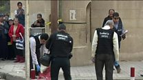 Police scour area after Egypt church attack