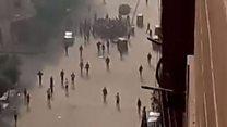 بالفيديو: أهالي حلوان يتصدون لمسلح