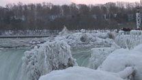 Parts of Niagara Falls freeze