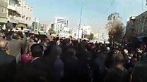 كيف بدأت المظاهرات في إيران؟
