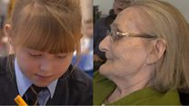 Pen pals defy age gap to become friends