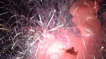 Fireworks 'chaos' as barge explodes