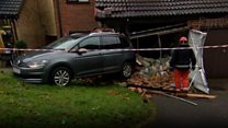 Car crashes into house