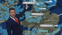 Latest weather forecast as Eleanor approaches